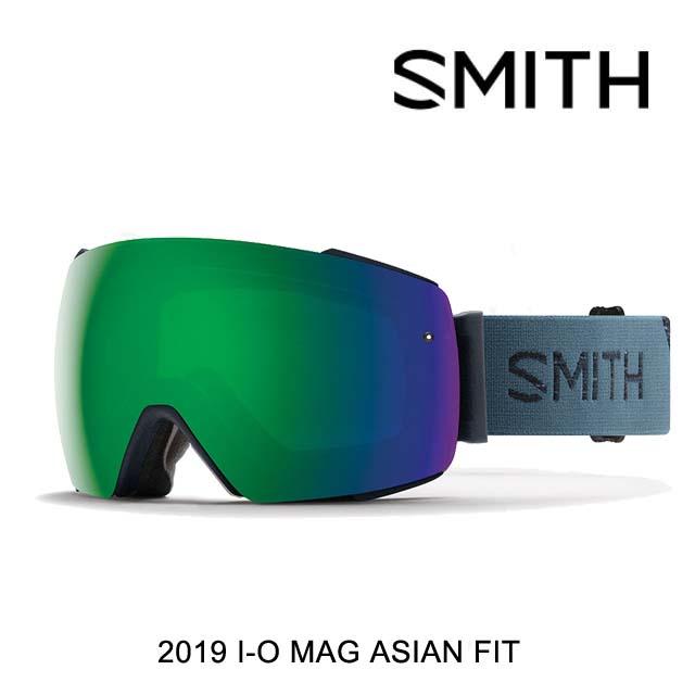 2019 SMITH スミス ゴーグル GOGGLE I/O MAG PETROL/CHROMAPOP SUN GREEN MIRROR+CHROMAPOP STORM ROSE FLASH ASIAN FIT