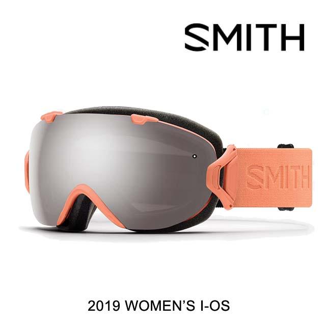 2019 SMITH スミス ゴーグル GOGGLE I/OS SALMON FLOOD/CHROMAPOP SUN PLATINUM MIRROR+CHROMAPOP STORM YELLOW FLASH