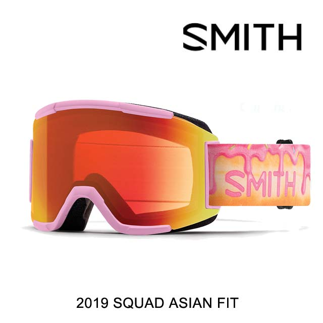 2019 SMITH スミス ゴーグル GOGGLE SQUAD AC-GUS KENWORTHY/CHROMAPOP EVERYDAY RED MIRROR+CHROMAPOP SUN BLACK ASIAN FIT