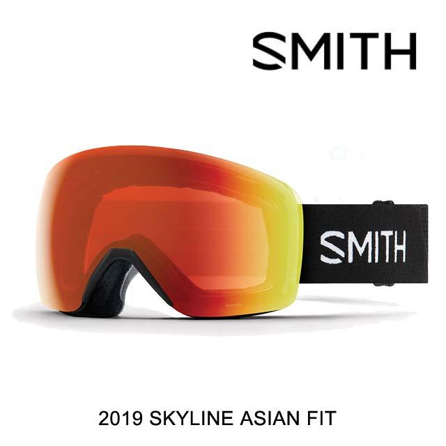 2019 SMITH スミス ゴーグル GOGGLE SKYLINE BLACK/CHROMAPOP EVERYDAY RED MIRROR ASIAN FIT