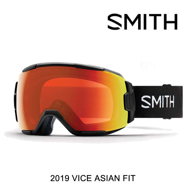 2019 SMITH スミス ゴーグル FIT GOGGLE GOGGLE VICE BLACK ゴーグル/CHROMAPOP EVERYDAY RED MIRROR ASIAN FIT, moncachette:a1a7fde0 --- officewill.xsrv.jp