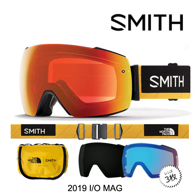 2019 SMITH スミス ゴーグル GOGGLE I/O MAG AC - AUSTIN SMITH/CHROMAPOP SUN BLACK+CHROMAPOP STORM ROSE FLASH+CHROMAPOP EVERYDAY RED