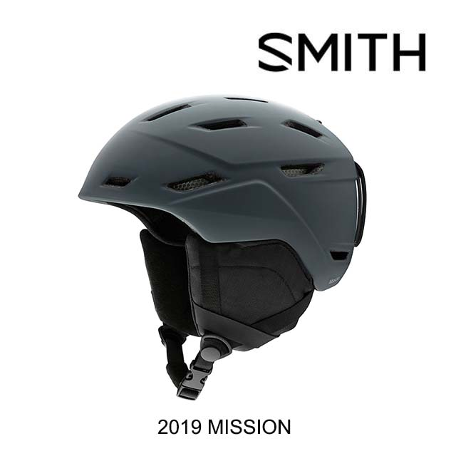 2019 SMITH スミス ヘルメット HELMET MISSION MATTE CHARCOAL
