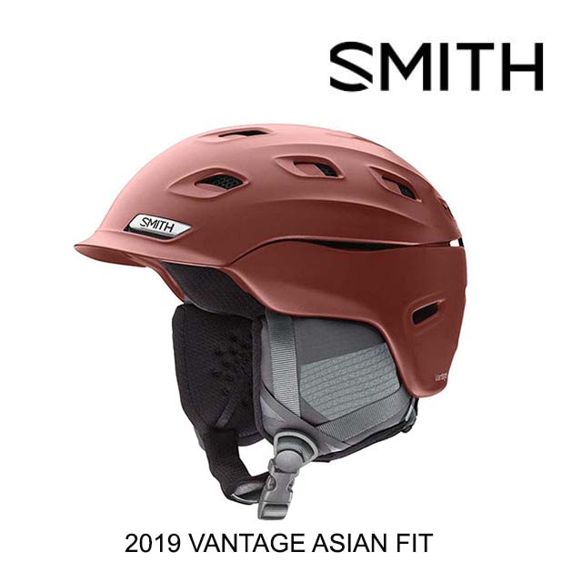 2019 SMITH スミス ヘルメット HELMET VANTAGE MATTE OXIDE ASIAN FIT