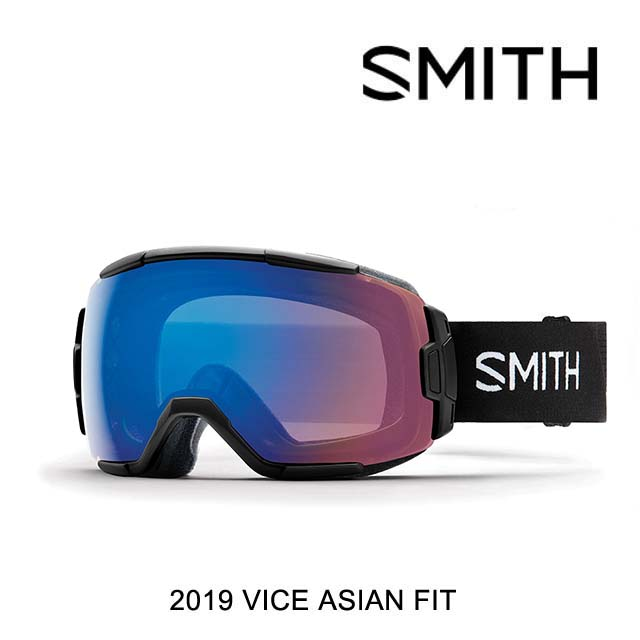 2019 SMITH スミス ゴーグル GOGGLE VICE BLACK/CHROMAPOP STORM ROSE FLASH ASIAN FIT