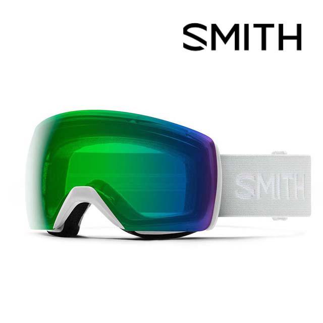 SMITH スミス スカイライン 全国一律送料無料 XL ゴーグル SKYLINE WHITE VAPOR MIRROR スノーボード AF CHROMAPOP フィット EVERYDAY GREEN アジアン 新色