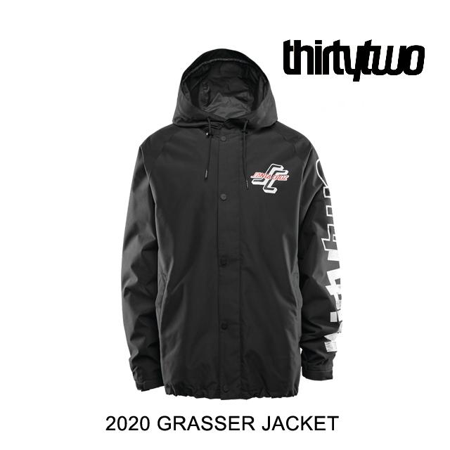 2020 THIRTYTWO 32 サーティーツー ジャケット GRASSER JACKET BLACK