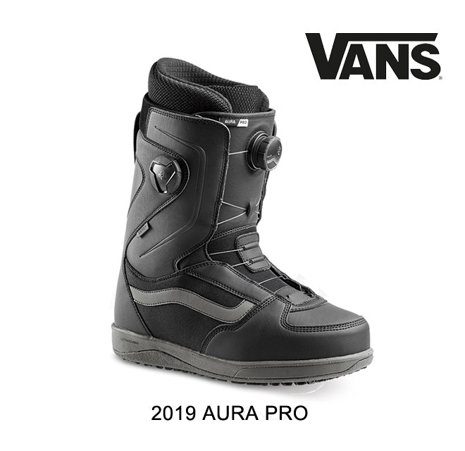 2019 VANS ヴァンズ スノーボードブーツ SNOWBOARD BOOT AURA PRO BLACK/GREY
