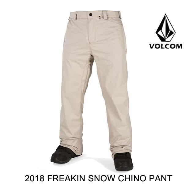 2018 VOLCOM ボルコム パンツ FREAKIN SNOW CHINO PANT KHA