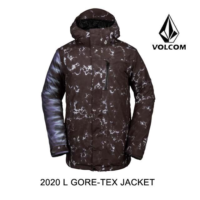 2020 VOLCOM ボルコム ジャケット L GORE-TEX JKT BLACK PRINT
