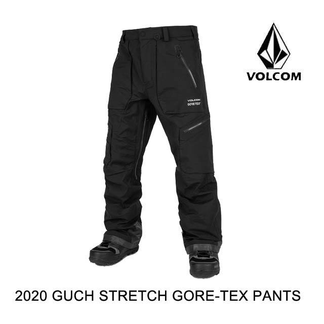 2020 VOLCOM ボルコム パンツ GUCH BLACK 在庫限り STRETCH PANT 激安通販専門店 GORE-TEX