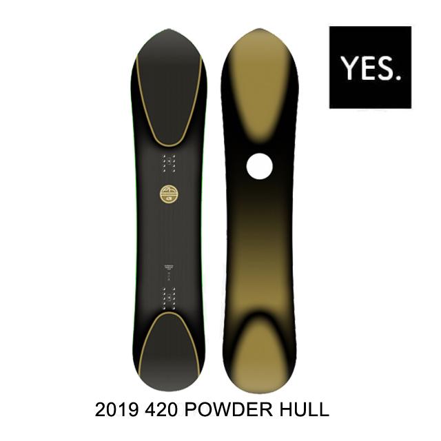 2019 YES イエス スノーボード SNOWBOARD 420 POWDER HULL 154