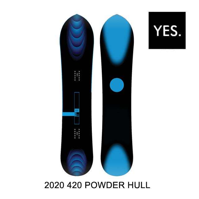 2020 YES イエス 420 パウダー ヒル スノーボード SNOWBOARD 420 POWDER HULL 154