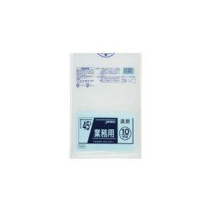 業務用45L 10枚入025LLD+メタロセン透明 TM43 【(60袋×5ケース)300袋セット】 38-281
