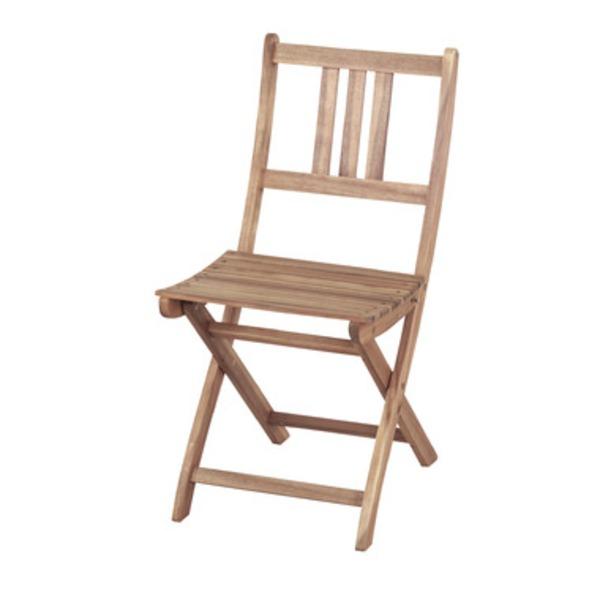 折りたたみ椅子/チェア 【Byron】バイロン 木製(アカシア/オイル仕上げ) NX-901【完成品】