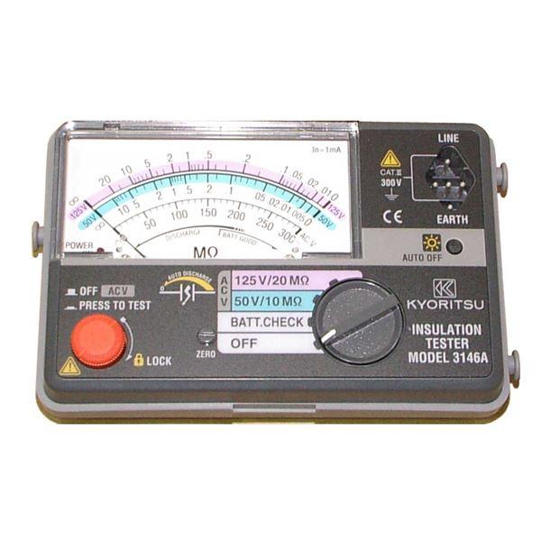 共立電気計器 キューメグ 2レンジ小型絶縁抵抗計 3146A【代引不可】