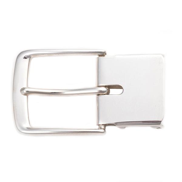 ベルトバックル 美錠C 無地柄 3cmベルト幅用 銀製 磨き仕上げ 日本伝統工芸品 ハンドメイド スターリングシルバー