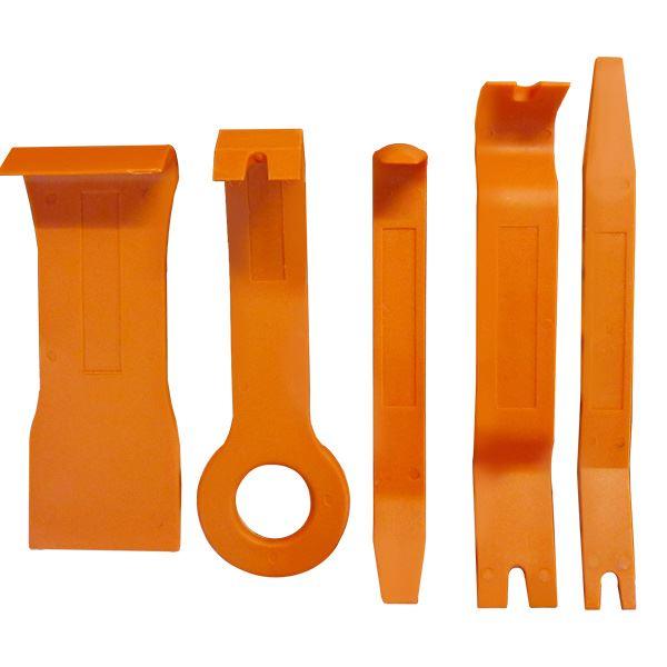 (業務用10セット) S-ROAD ハンディリムーバーセット/作業工具 【5本組×10セット】 ナイロン製 SRO-RM5 オレンジ 〔DIY用品/大工道具〕