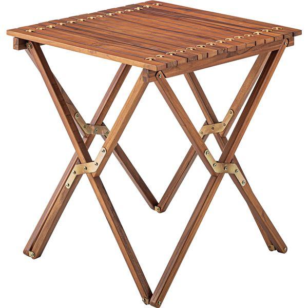 【幅60cm×奥行60cm×高さ67cm】 【組立品】 『ロールトップテーブル』 サイドテーブル/ミニテーブル 木製 本皮/皮革