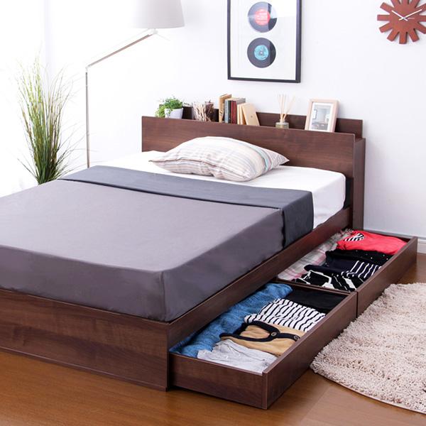 収納付きデザインベッド【ショコ・ララ-CHOCOLALA-(シングル)】 【シングルベッド 収納付き】北欧 wb-012ns