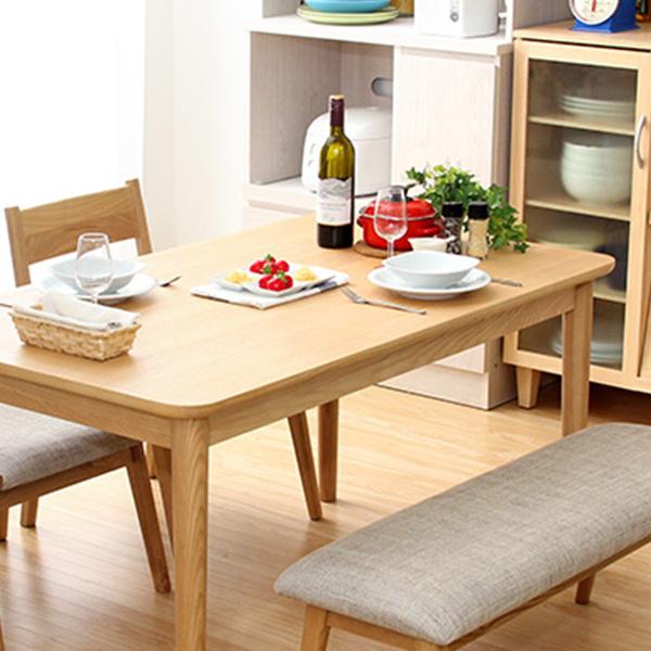 【送料無料】ダイニングテーブル単品(幅130cm) ナチュラルロータイプ 木製アッシュ材 Risum-リスム-