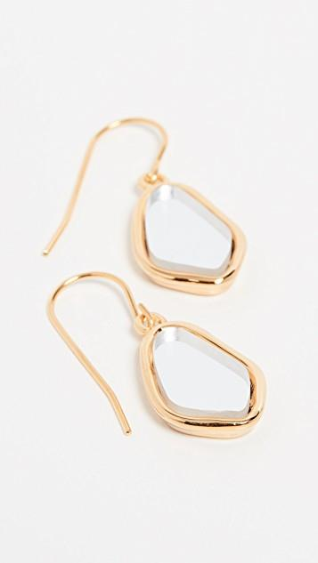 Ciottolo Pendant Earrings with Mirror レディース