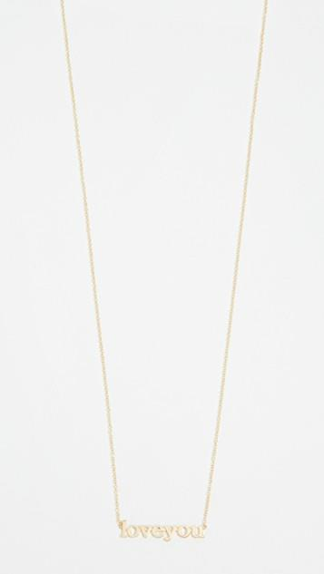 18k Gold Love You Necklace レディース