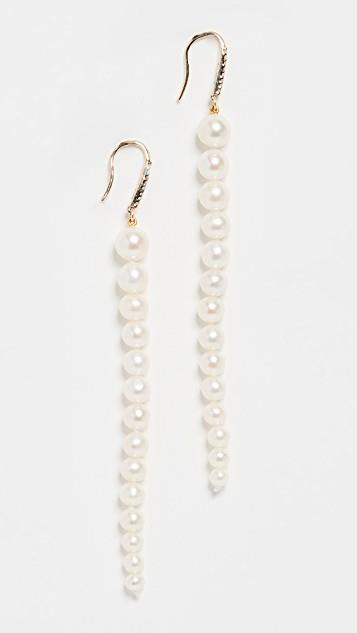 世界的に 14k Freshwater Cultured Earrings Graduated Cultured Pearl Dangler レディース Earrings レディース, キタツルグン:4f3d6774 --- crisiskw.com