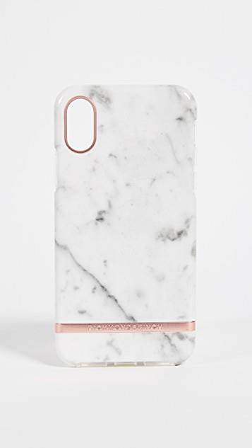 White Marble iPhone Case レディース