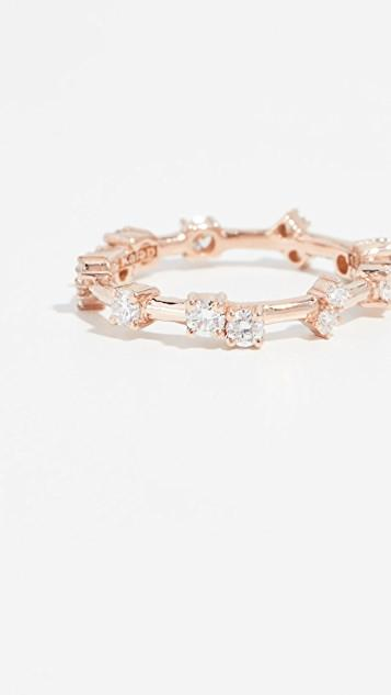 18k Rose Gold Barbwire Ring レディース