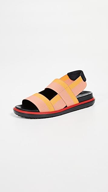 Fussbett Two Band Slingback Sandals レディース