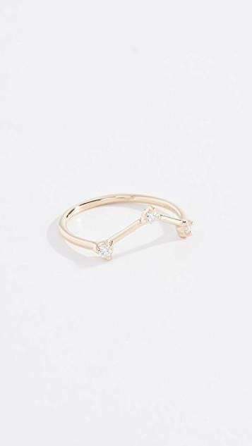 14k Three Step Triangle Ring レディース