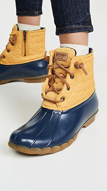 Saltwater Chevron Lace Up Boots レディース