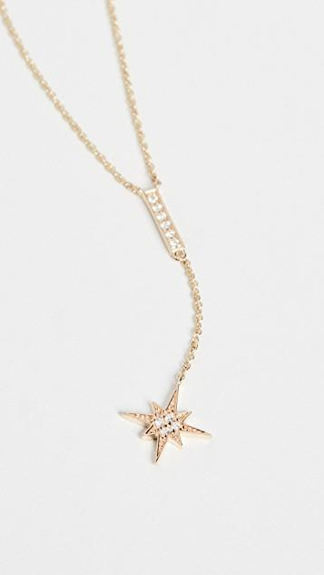 Pave Bar and Starburst Y Necklace レディース