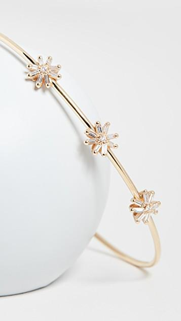 18k Yellow Gold Fireworks Small Starburst Bangle レディース