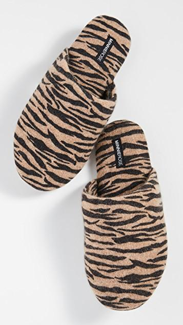 Tiger Cashmere Slippers レディース