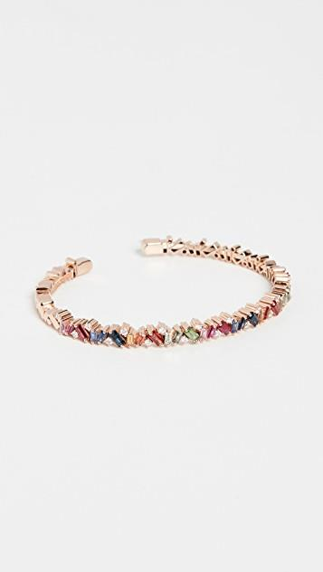 18k Rose Gold Bracelet with Round White Diamonds レディース