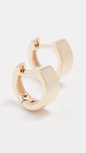 14k Gold Jumbo Huggie Earrings レディース