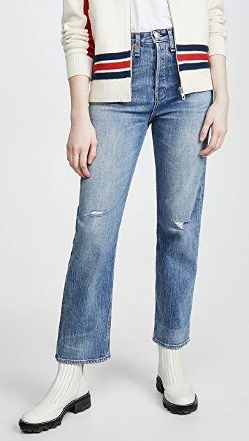 Maya High-Rise Ankle Straight Jeans レディース