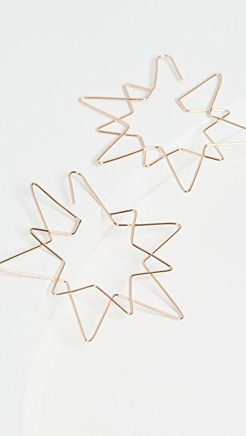 Star Wire Drop Earrings レディース