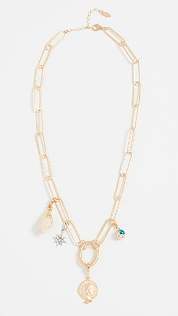 Chunky Chain Charm Necklace レディース