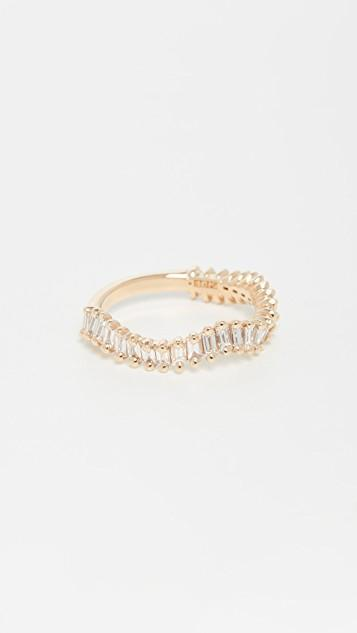 18k Yellow Gold Way Wave Ring レディース