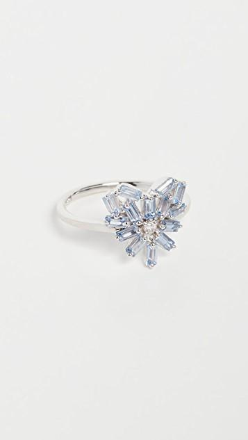 18k White Gold Fireworks Small Rounded Ring レディース