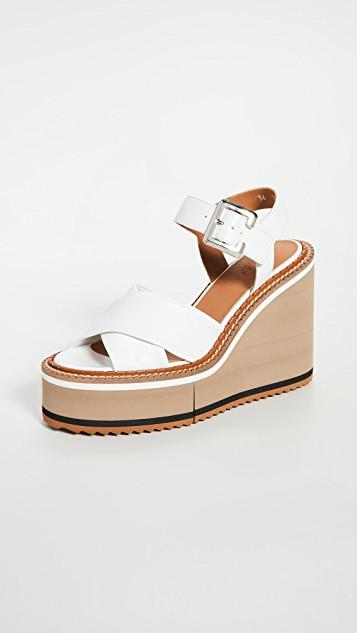 Noemie Wedge Sandals レディース