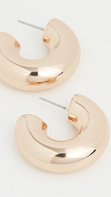 Polished Gold Chubby Hoop Earrings レディース