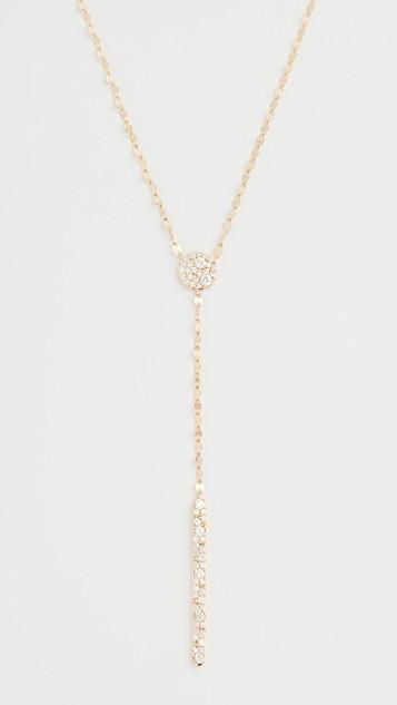 14k Scattered Diamond Charm Lariat Necklace レディース