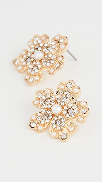 Sprout Button Stud Earrings レディース
