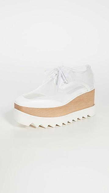 Elyse Transparent Lace Up Shoes レディース