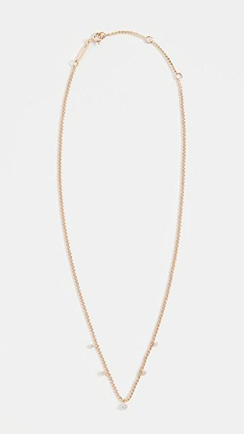14k Gold Small Curb Chain Necklace レディース