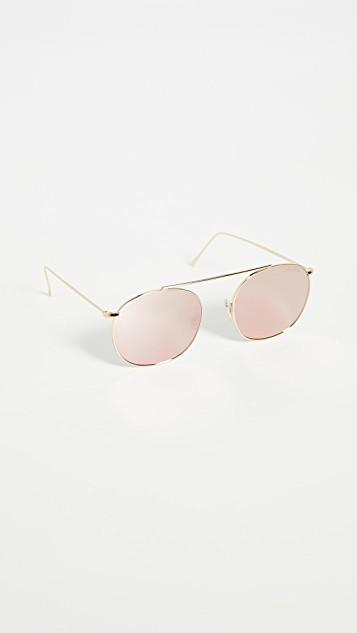 Mykonos II Gold Sunglasses レディース